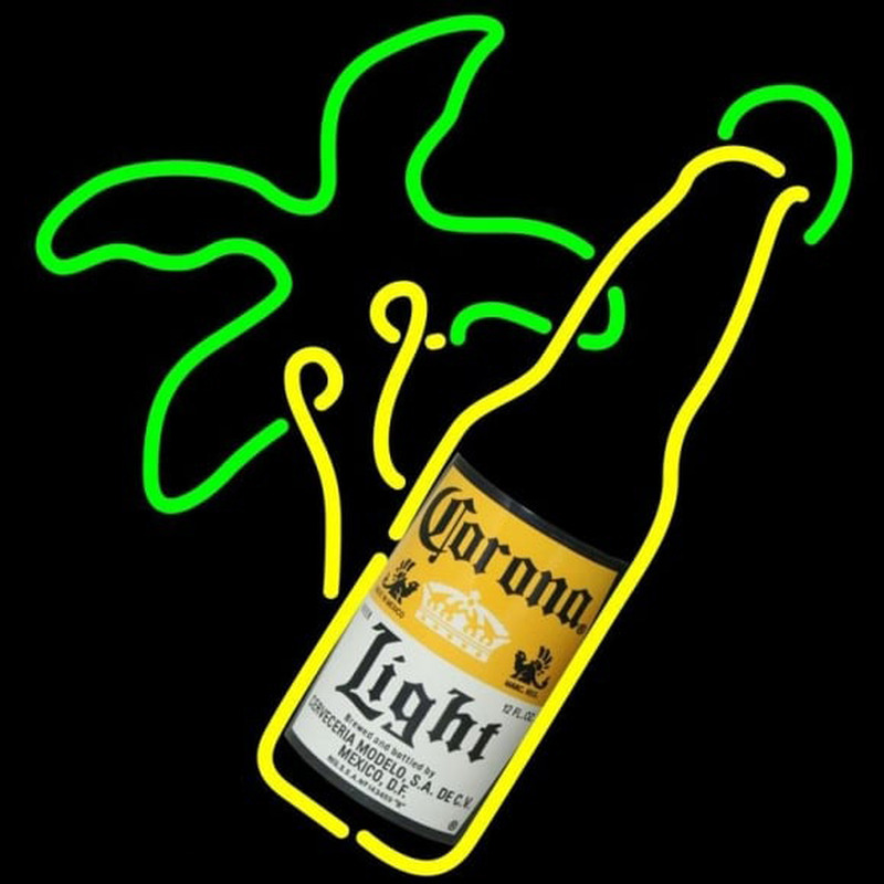 Corona Light Bottle Beer Sign Neon Skilt