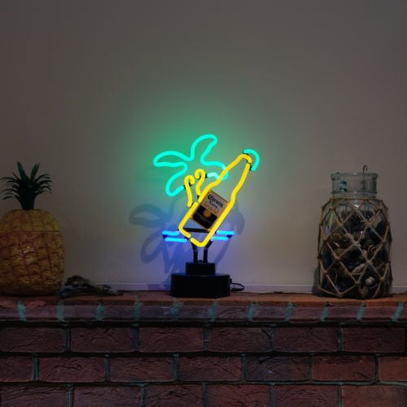 Corona Palm Tree Desktop Neon Skilt