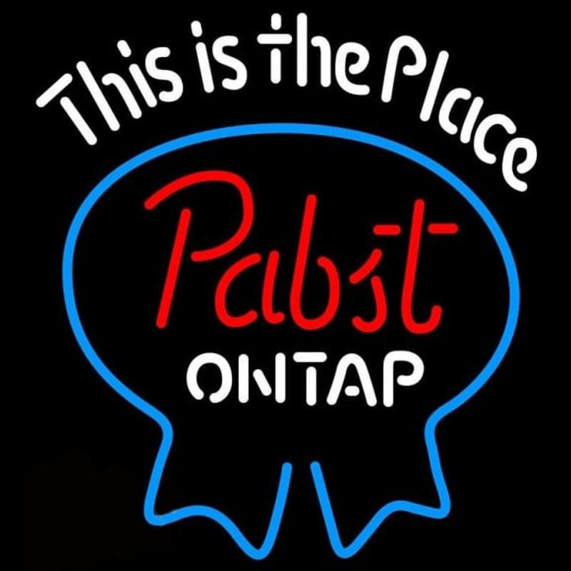 Pabst Light This is the Place Beer Sign Neon Skilt