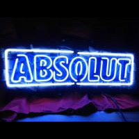Absolute Vodka Øl Bar Neon Skilt