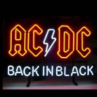 Ac Dc Back In Black Neon Skilt