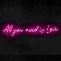 All you need is love Neon Skilt