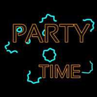 And Party Time 1 Neon Skilt