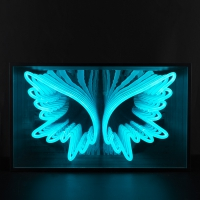 Angel Wings 3D Infinity LED Neon Sign
