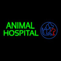 Animal Hospital Dog Cat Logo Veterinary Neon Skilt