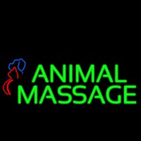 Animal Massage Dog Cat Logo Neon Skilt