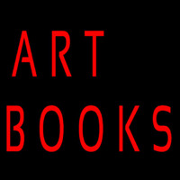 Art Books Neon Skilt
