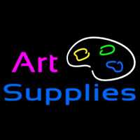 Art Supplies Neon Skilt