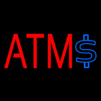 Atm With Dollar Symbol 2 Neon Skilt