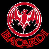 Bacardi Bat Red Logo Rum Sign Neon Skilt