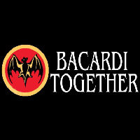 Bacardi Bat Together Rum Sign Neon Skilt