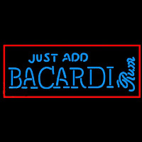 Bacardi Just Add Rum Sign Neon Skilt