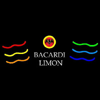 Bacardi Limon Multi Colored Rum Sign Neon Skilt