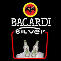 Bacardi Silver Rum Sign Neon Skilt