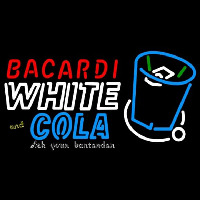 Bacardi White And Coke Rum Sign Neon Skilt