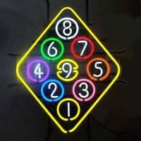 Ball Billiard Rack Pool Neon Beer Sign Neon Skilt