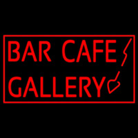 Bar Cafe Gallery Neon Skilt