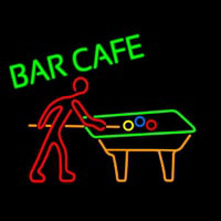 Bar Cafe With Pool Neon Skilt