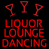 Bar Liquor Lounge Dancing With Wine Glasses Neon Skilt