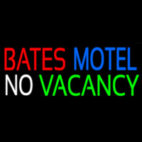 Bates Motel No Vacancy Neon Skilt