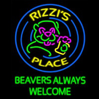 Beavers Always Welcome Neon Skilt