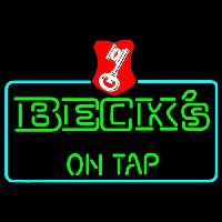 Beck On Tap Key Label Beer Neon Skilt