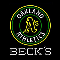 Becks Oakland Athletics Neon Skilt