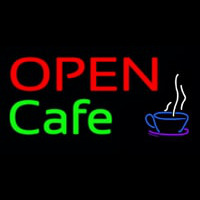 Block Open Cafe Neon Skilt