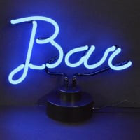 Blue Bar Desktop Neon Skilt