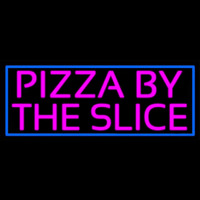 Blue Border Pizza By The Slice Neon Skilt