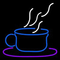 Blue Coffee Cup Neon Skilt