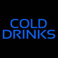 Blue Cold Drinks Neon Skilt