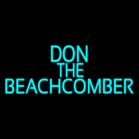 Blue Don The Beachcomber Tiki Bar Neon Skilt