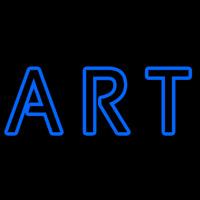 Blue Double Stroke Art Neon Skilt