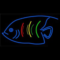 Blue Fish Logo Neon Skilt