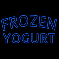 Blue Frozen Yogurt Neon Skilt