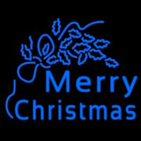 Blue Merry Christmas Neon Skilt