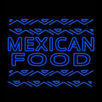 Blue Mexican Food Outdoor Neon Skilt