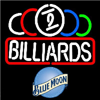 Blue Moon Ball Billiard Te t Pool Beer Sign Neon Skilt