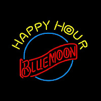 Blue Moon Classic Happy Hour Beer Sign Neon Skilt