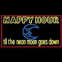 Blue Moon Happy Hour Till Beer Sign Neon Skilt