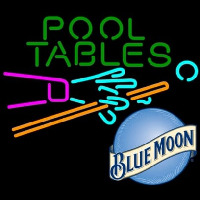 Blue Moon Pool Tables Billiards Beer Neon Skilt