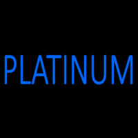 Blue We Buy Platinum Neon Skilt