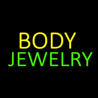 Body Jewelry Block Neon Skilt