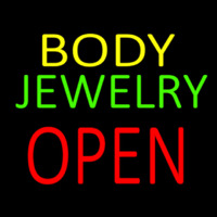 Body Jewelry Open In Block Neon Skilt