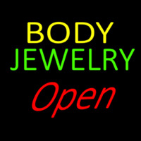 Body Jewelry Open Neon Skilt