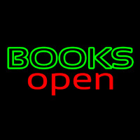 Books Red Open Neon Skilt