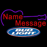 Bud Light Acoustic Guitar Beer Sign Neon Skilt