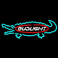 Bud Light Alligator Beer Sign Neon Skilt