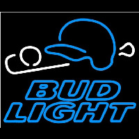 Bud Light Baseball Beer Sign Neon Skilt